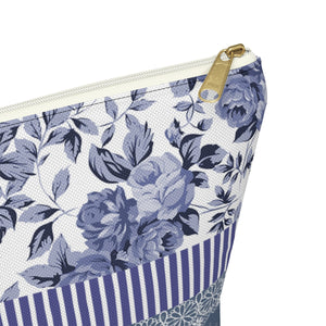 Travel cosmetic pouch organizer with T-bottom perfect gift for her