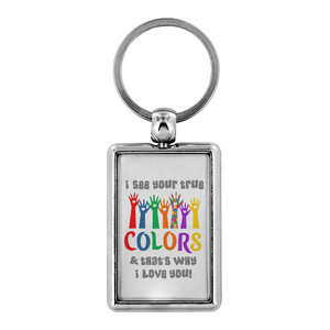 True Colors Keychain Autism Awareness and Support - sea-gull