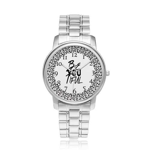 Custom Design Beautiful women's silver watches