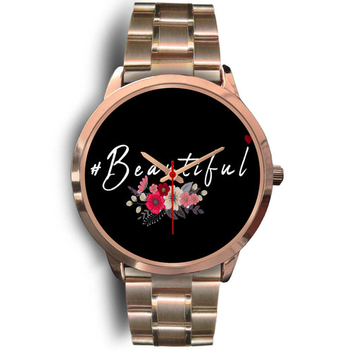 #Beautifal Custom design Black Background Woman's Watch - sea-gull