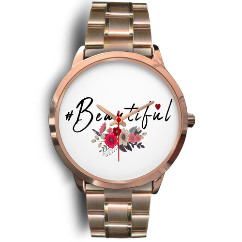 #Beautiful Floral Custom Designed Women's Watch - sea-gull