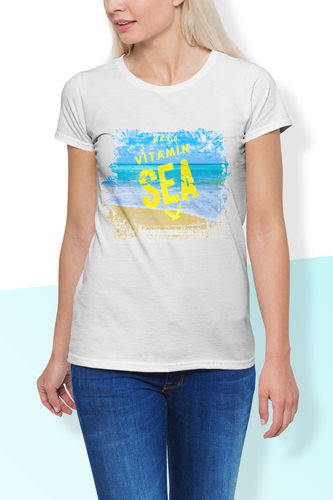 I Need Vitamin Sea Crew Neck Women's T-Shirt - sea-gull