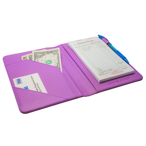 Purple Server Book with Tips for Waitresses