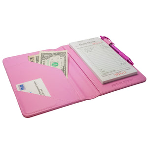 Pink Server Books from ServerBooks.com for Waitresses - Restaurant Server Organizer and Order Pad Holders