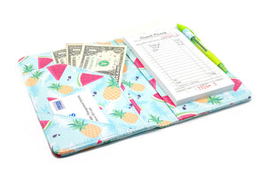 Cute Server Books for Summer - Pineapples and Watermelon on Server Book Organizer