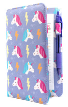 "Load image into Gallery viewer, [PATTERN OF THE WEEK] SERVER BOOK™ Patterns 8"" x 5"" Server Organizer - Purple Unicorns"
