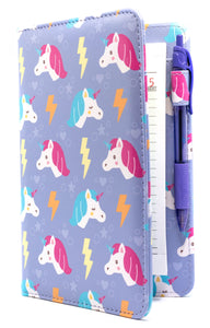 "[PATTERN OF THE WEEK] SERVER BOOK™ Patterns 8"" x 5"" Server Organizer - Purple Unicorns"