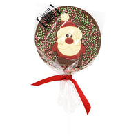 Milk Chocolate Christmas Santa Lollipop_wrapped