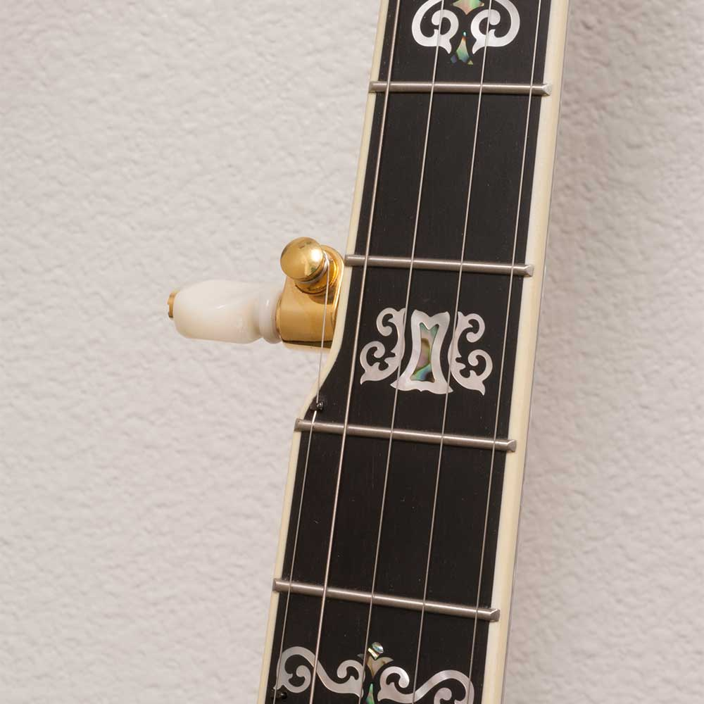Deering Jens Kruger Model with -06- Tone Ring - neck close