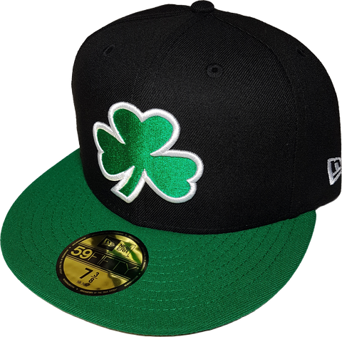 Irish Clover Black and Green Custom Fitted