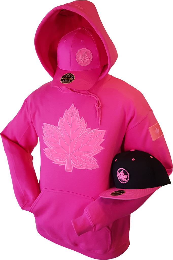 Tonal Canada Hoodie Mighty Maple Hot Pink