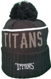 Tennessee Titans Fleece Lined Black Pom Toque