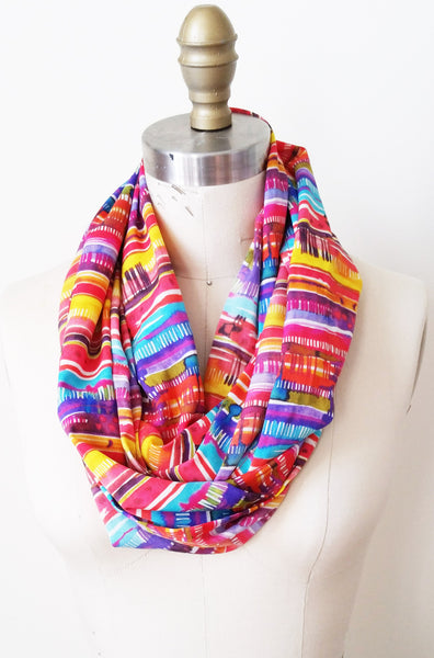 Drips of Rainbow Infinity Scarf - Tabii Just
