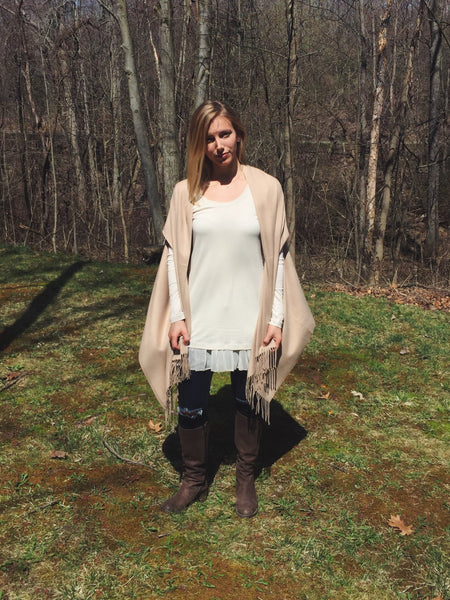 Brown Sugar Slotted Faux Cashmere