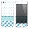 Blue Plaid w/ Polka Dots Print Skin for the iPhone 3gs, 4/4s, 5, 5s or 5c