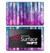 Blue & Purple Vertical Wood Skin for the Microsoft Surface