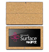 Cork Board Skin for the Microsoft Surface