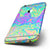 The Neon Color Swirls V2 Six-Piece Skin Kit for the iPhone 6/6s or 6/6s Plus