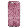 Stained Magenta Damask Pattern iPhone 6/6s or 6/6s Plus 2-Piece Hybrid INK-Fuzed Case