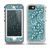 The Abstract Blue Feather Paisley Skin for the iPhone 5-5s OtterBox Preserver WaterProof Case