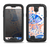 The Abstract White and Blue Fish Fossil Samsung Galaxy S4 LifeProof Nuud Case Skin Set