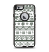 The Black & White Floral Aztec Pattern Apple iPhone 6 Otterbox Defender Case Skin Set