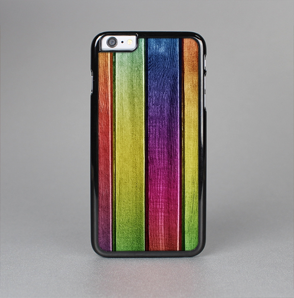 The Colorful Vivid Wood Planks Skin-Sert Case for the Apple iPhone 6 Plus