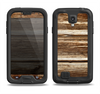 The Dark Highlighted Old Wood Samsung Galaxy S4 LifeProof Fre Case Skin Set
