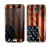 The Dark Wrinkled American Flag Skin For the Samsung Galaxy S5