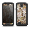 The Faded Torn Newspaper Letter Collage Samsung Galaxy S4 LifeProof Fre Case Skin Set
