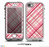 The Fancy Pink Vintage Plaid Skin for the iPhone 5-5s NUUD LifeProof Case