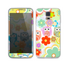 The Fun-Colored Cartoon Owls Skin For the Samsung Galaxy S5