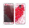 The Geometric Faded Red Heart Skin For the Samsung Galaxy S5