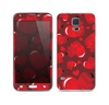 The Glossy Electric Hearts Skin For the Samsung Galaxy S5