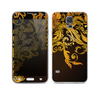 The Gold Floral Vector Pattern on Black Skin For the Samsung Galaxy S5