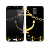 The Gold Linking Chain Anchor Skin For the Samsung Galaxy S5