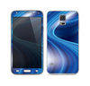 The Gradient Waves of Blue Skin For the Samsung Galaxy S5