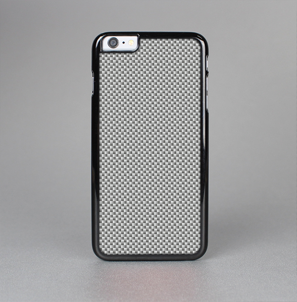 The Gray Carbon FIber Pattern Skin-Sert Case for the Apple iPhone 6 Plus