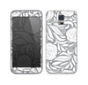 The Gray Floral Pattern V3 Skin For the Samsung Galaxy S5