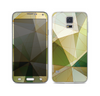 The Green Geometric Gradient Pattern Skin For the Samsung Galaxy S5