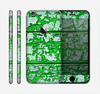 The Green Grunge Wood Skin for the Apple iPhone 6