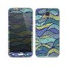 The Green and Blue Stain Glass Skin For the Samsung Galaxy S5