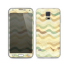 The Green and Yellow Wave Pattern v3 Skin For the Samsung Galaxy S5