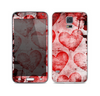 The Grunge Dark & Light Red Hearts Skin For the Samsung Galaxy S5