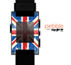 The Grunge Vintage Textured London England Flag Skin for the Pebble SmartWatch