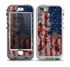 The Grungy American Flag Skin for the iPhone 5-5s nüüd LifeProof Case
