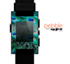 The Neon Multiple Peacock Skin for the Pebble SmartWatch