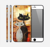 The Orange Grungy Textured Cat Skin for the Apple iPhone 6 Plus