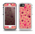 The Pink & Tan Paw Prints Skin for the iPhone 5-5s OtterBox Preserver WaterProof Case