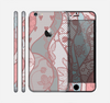 The Pink & Teal Lace Design Skin for the Apple iPhone 6 Plus